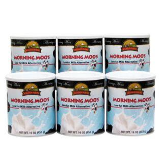 Augason Farms Morning Moos Low Fat Milk Alternative, 16 Oz. Can, 6 Pk
