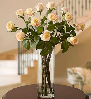 Silk Long Stem Rose Water Bouquet  Faux Flowers  1800FLOWERS