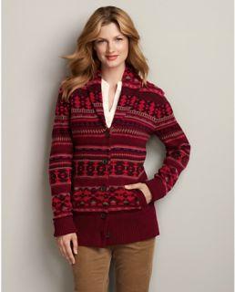 Pattern Shawl Collar Cardigan Sweater  Eddie Bauer