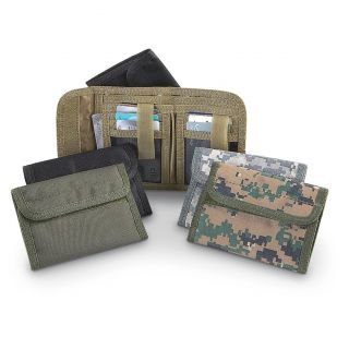 Military style Advanced Tactical Wallets, Coyote / Black   Black