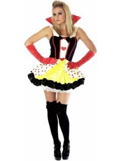 Womens Queen of Hearts Fancy Dress Costume Littlewoods