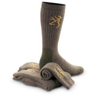 Pk. Browning Merino Wool Blend Socks, Taupe   409064, Socks at