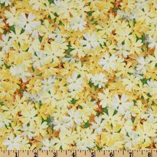 Garden Magic Small Flowers Yellow   Discount Designer Fabric   Fabric