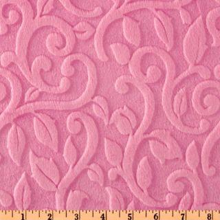 Minky Vine Cuddle Sofia Pink   Discount Designer Fabric   Fabric