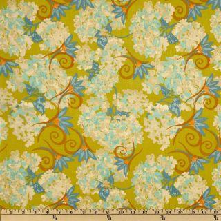 Katharines Wheel Hydrangea Green   Discount Designer Fabric