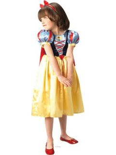 Girls Snow White Deluxe Fancy Dress Costume Littlewoods