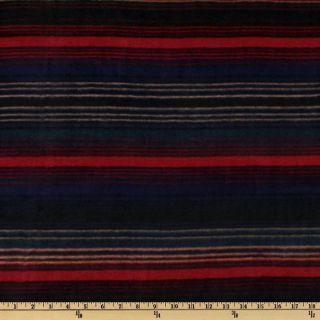WinterFleece High Plains Stripe Green   Discount Designer Fabric