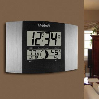 Atomic Clock w/ Thermometer and Moon Phase at Brookstone—Buy Now!