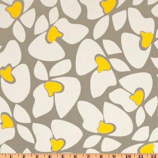 Premier Prints Helen Twill Storm/Yellow   Discount Designer Fabric