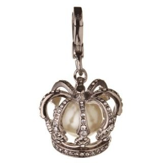 Juicy Couture Silver Crystal Crown Charm