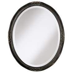 Uttermost Bronze Newport Oval 30 High Wall Mirror