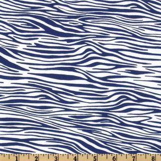 Go Safari Zebra Stripe Blue   Discount Designer Fabric   Fabric