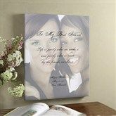 Personalized Photo & Poem Canvas Art Gifts for Friends