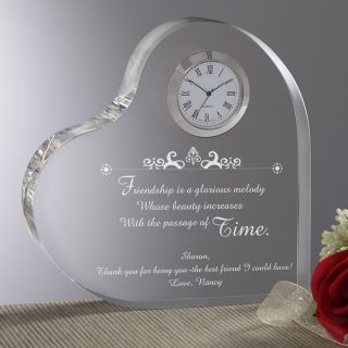 4132   Beauty of Friendship Personalized Heart Clock   Verse 1