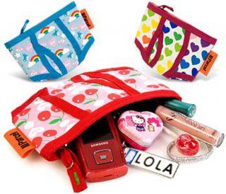 Popular Rhombic Zipper Makeup Cosmetic Travel Bag Pink   Tmart