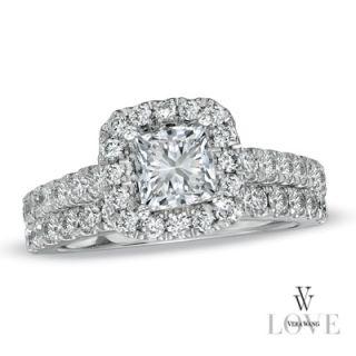 Vera Wang LOVE Collection 2 CT. T.W. Princess Cut Diamond Frame Bridal