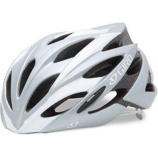 Giro SAVANT Bike Cycle Road Triathlon Helmet WHITE SILVER Large 59