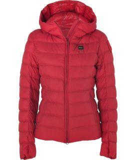 blauer usa red hooded light down jacket damen jacken stylebop. Black Bedroom Furniture Sets. Home Design Ideas