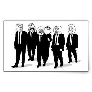 Rage Comic Meme Faces Walking. Me Gusta. Sticker  Zazzle.co.uk