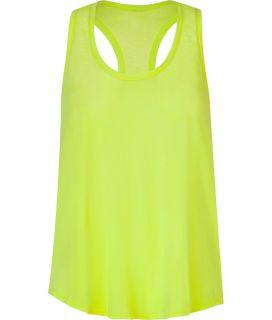 Splendid Neon Yellow Vintage Whisper Racerbike Top  Damen  T Shirts