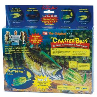 ChatterBait 26 Piece Professional Fishing Kit