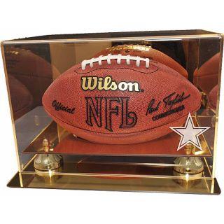 Caseworks Dallas Cowboys Gold Mirror Football Display Case