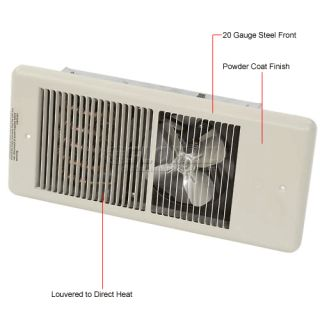 Heaters  Wall Electric  TPI Low Profile Commercial Fan Forced Wall