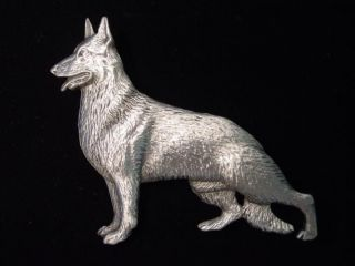 JJ Silver Pewter GERMAN SHEPHERD Dog Pin