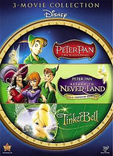 Peter Pan And Tinkerbell Gift Set DVD, 2008, 3 Disc Set