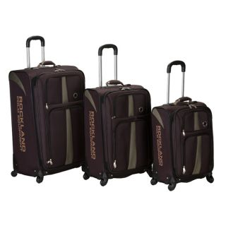 Rockland Polo Equipment Spinner 3 Pc Luggage Set   Brown