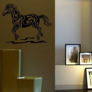 HORSE BEAUTIFUL TRIBAL RIDING WALL ART STICKER NEW kids vinyl stencil