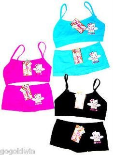LOT 3 GIRLS TRAINING BRAS + MATCHING PANTYS cute seamless underwear S