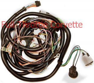 1979 Corvette Rear Body Wiring Harness Without Rear Window Defrost