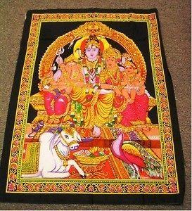 Picture 22 God Print Shiva Durga Ganesh Karttikeya Hindu Tapestry 42