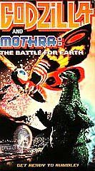 Godzilla and Mothra The Battle for Earth VHS, 1998