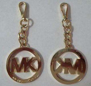 NEW MICHAEL KORS GOLD TONE FOB KEYCHAIN 4 1/2 LONG