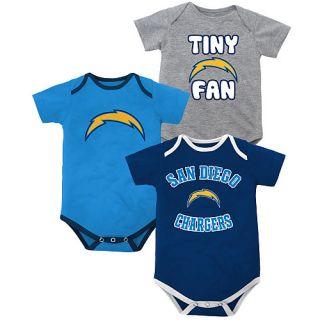 Newborn Baby Infant San Diego Chargers Onesie Bib Booties