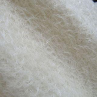 Snow White   MOHAIR   50CM X 70CM (Fat 1/4) Artist Teddy Bear Fabric