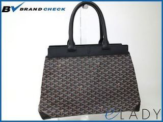 Auth GOYARD TOTE BAG CANVAS/LEATHER BLACK (BF035606)