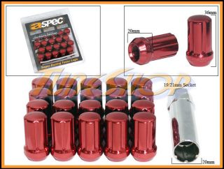 ASPEC SPLINE TUNER LOCK LUG NUTS 12X1.5 1.5 ACORN WHEELS RIMS CLOSE
