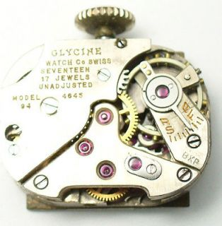 Newly listed Vintage Ladies Glycine Mechanical Watch Movement #23J