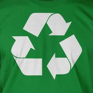 Recycle Green Living Earth Day Love Cool Eco Friendly Geek Cotton