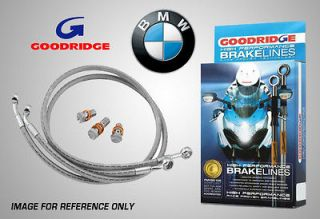 Goodridge BMW F650Gs/Dakar 00 04 Rear Braided Brake Lines Hoses