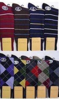 Pair Mens Argyle or Stripe Designer Fashion Premium Cotton Dress
