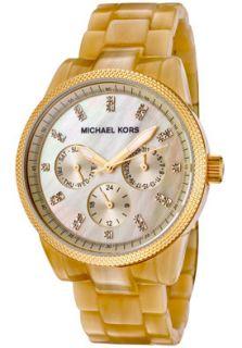 Michael Kors MK5039 Watches,Womens White Swarovski Crystal Beige