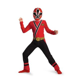 Power Rangers RED Ranger Samurai Child Costume Size 3T 4T Disguise