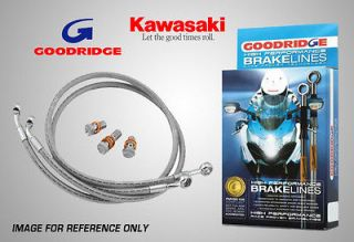 Goodridge Kawasaki Z1000 MK2 78 81 Rear Stainless Braided Brake Lines