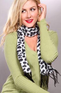 White Leo Printed Soft Plush Scarf @ Amiclubwear scarf Online Store
