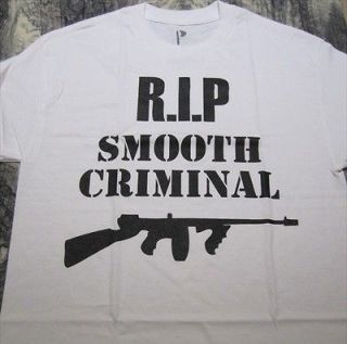 Premium Label Smooth Criminal Michael Jackson Anniversary Tribute T