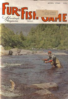 FUR FISH GAME HARDINGS MAGAZINE APRIL 1963 PRAIRIE DOG TOWN HOWELL